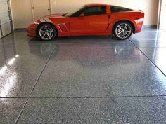 Epoxy Garage Flooring. Adding some serious style to your garage space with decorative concrete.