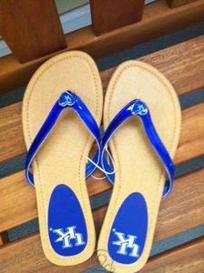 University of Kentucky Wildcats UK Womens Flip Flops Sandals Size 8 NEW! | eBay