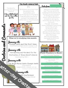 Latter-Day Chatter: Primary Class Newsletters
