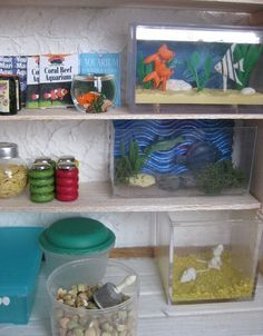 Barbie diy on pinterest barbie furniture dollhouses and for Fish and more pet store
