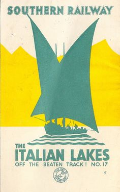 """Southern Railway of England - """"Off the Beaten Track"""" travel leaflet No. 17, The Italian Lakes - c1933 