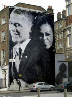 President Barak Obama & 1st Lady Michelle Obama...  #Photofunia the game, games, london, graffiti, street art, tyrion, mural, game of thrones, streetart