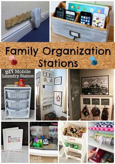 Get organized NOW!!  Family organization stations from Princess Pinky Girl!