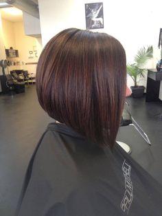 A Line Bob Haircut ....