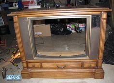 TV Set Turned Doggie Bed