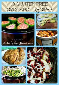 10 Gluten Free Crockpot Recipes that are scrumptious and healthy! #glutenfree