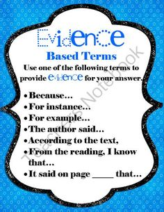 Evidence Based Poster from ZanahMcCauley on TeachersNotebook.com -  (1 page)  - Evidence Based Poster
