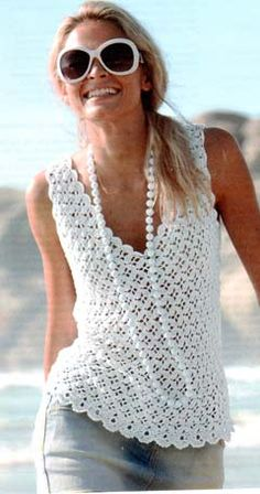 love this crochet shell shell top, crochet shellthough