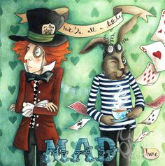 We're all a little mad here  open edition 11 x by littleblackspot