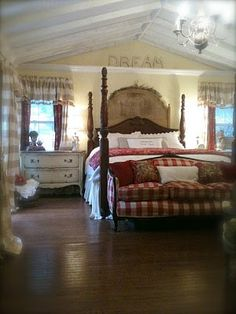 French Country cottage bedroom