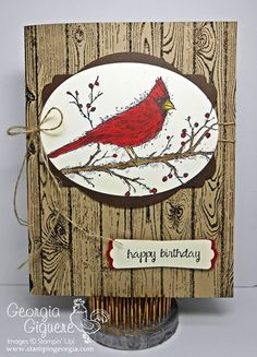 Georgia Giguere: Stampin' Georgia ,- Get Mileage from Your Holiday Stamps...A masculine Birthday Card! - 8/27/14