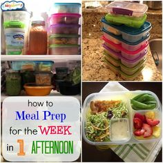 Knowing how to meal prep for the week in one afternoon can save you tons of time and stress when it comes to those crazy nights and early mornings with the kids!