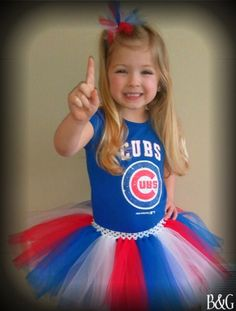 outfits, little girls, headband, chicago cubs, custom tutus