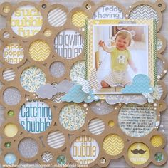 Catching bubbles.  Love the background using a mat (Melinda Spinks Jillibean Soup)