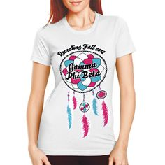 "Sorority Rush / Recruitment Shirts ""dream catcher"" Design.  Available for all organizations!  $9.90 ea.  #sorority #rush #recruitment #Greek"