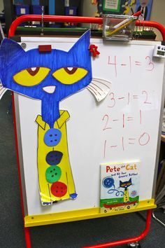 cats, groovi button, books, felt board stories, pete the cat subtraction, math centers, felt boards, buttons, owls