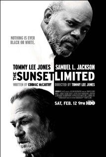 "The Sunset Limited: SLJ, TLJ,  written by Cormac McCarthy. Three master craftsmen doing what they do best. Brave, powerful work. Reminiscent of ""12 Angry Men""."
