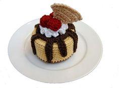 Sundae Oh La La Cheesecake - free pattern crochet food, free pattern, cheesecakes, crochet toy, crochet cake pattern, sunda, crochet cakes, crochet patterns, amigurumi