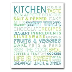 Spruce up your kitchen with this printable subway art from Simple Crafter.