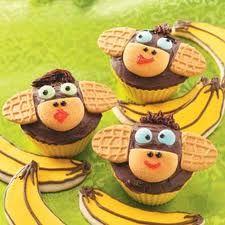 Monkeys!! idea, monkeys, cupcakes, food, recip, monkey cupcak, dessert, parti, kid