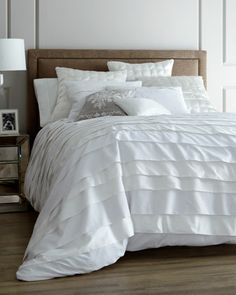 """""""Belgravia"""" White Bed Linens at Horchow."""