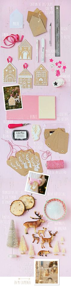 pink, kraft & white holiday