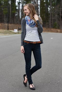 Pattern mixing with a scarf (plus other ways to wear a scarf!)