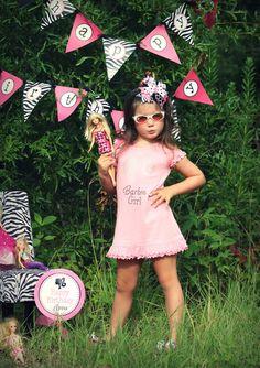 Barbie Birthday Party Printable Decor - Barbie Silhouette Party Decorations - DIY Tablescape. $19.95, via Etsy.