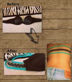New sew bra makeover - great for shirts/dresses without backs.. Plus other great clothes makeover ideas