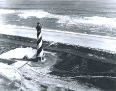 Cape Hatteras Lighthouse in its old location