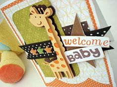 Cricut Welcome New Baby Card. Create a Critter Cartridge.   *