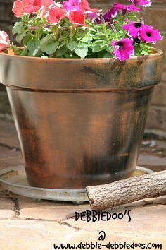 How To Dye A Terra Cotta Pot And Look Like Copper   Rit Dye Fabric Dyeing