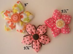 ribbon flower hairbow tutorials.