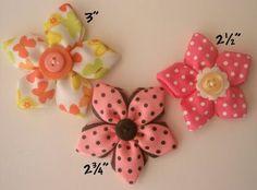 ribbon flower hairbow tutorials.