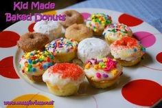 Kid Made Baked Donuts