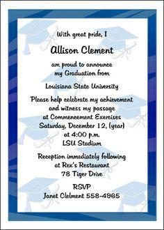 Etiquette for Graduating Announcement Invitation Cards