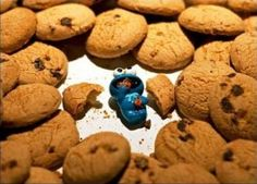 Happiness, Cookie Monster style..