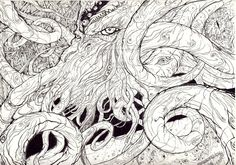 Coloring pages on pinterest dover publications coloring for Cthulhu coloring pages