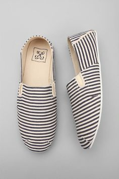 Nautical striped espadrilles
