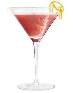 French Martini  1.5 oz vodka   1/2 oz Chambord   2 oz. pineapple juice     Shake ingredients with ice and strain into a martini glass. Garnish with a pineapple wedge or a leaf from the pineapple for a sleek modern look.
