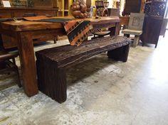 Rustic Bench - Ironwood   -            Indonesian Furniture at Gado Gado.