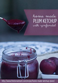 Homemade Ketchup from Plums and Red Wine