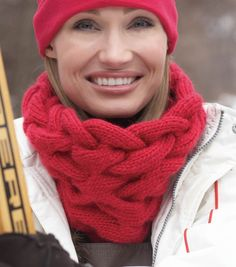 Keep warm and in-style with this classic wool roving cabled cowl!