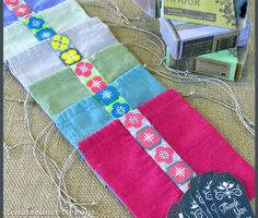 Favor Bags For Weddings & More with Renaissance Ribbons - designed for easy assembly line construction| Sew4Home
