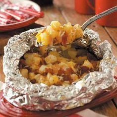 Foil Wrapped Cheesy Bacon Potatoes