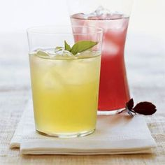 Fresh-Squeezed, Lip-Smacking Lemonade Recipes  | Basil Lemonade | MyRecipes.com