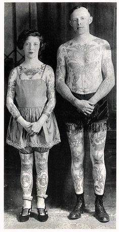 Tattooed couple