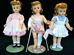 3 Madame Alexander dolls -  Kelly, Edith and Marybel