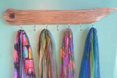 Rack Driftwood Display Jewelry, Ties, Ball Caps, Scarves, Dog Leashes, Wedding Gift Ideas