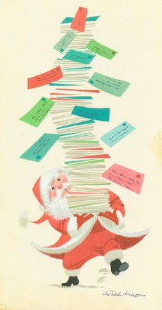 Vintage Christmas card by Ralph Hulett